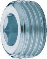 Verschlussschraube mit Innensechskant Stahl verzinkt-passiviert konisch M 8x1 - toolster.ch