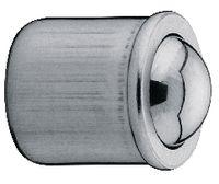 Federndes Druckstück mit glatter Hülse und Kugel Stahl rostfrei 1.4303<br>Kugel Stahl gehärtet 6 x 7 - toolster.ch