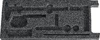 Schaumstoffeinlage anthrazit UT mit 8 Aussparungen BEAT6631 / 150 x  325 x 25 - toolster.ch