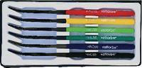 VALLORBE Härteprüfer - Feilen-Satz mit 6 Feilen unterschiedlicher Härte 40…65 HRC - 6x 8/200 - toolster.ch