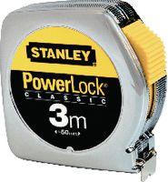 STANLEY Rollmeter  POWERLOCK im Metallgehäuse verchromt 3 m - toolster.ch