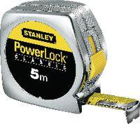 STANLEY Rollmeter  POWERLOCK im Kunststoffgehäuse verchromt 5 m - toolster.ch