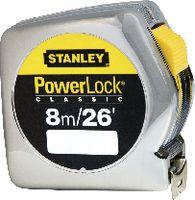 STANLEY Rollmeter  POWERLOCK im Kunststoffgehäuse verchromt 8 m - toolster.ch