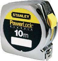 STANLEY Rollmeter  POWERLOCK im Kunststoffgehäuse verchromt 10 m - toolster.ch