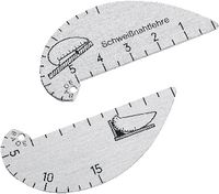 Schweissnahtlehre aus Aluminium Ecknähte 2...15 mm, Flachnähte 0...5 mm 2...15 / 0...5 - toolster.ch