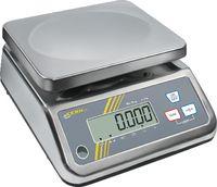 KERN Kompakt-Waage digital , INOX Wägeplatte 230 x 190 mm 6 kg / 1.0 g / IP65 - toolster.ch