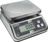 KERN Kompakt-Waage digital , INOX Wägeplatte 230 x 190 mm 15 kg / 2.0 g / IP65 - toolster.ch