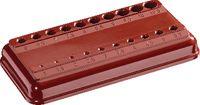 Bakelit-Sockel leer, rot 1105 / 1-10.5 - toolster.ch