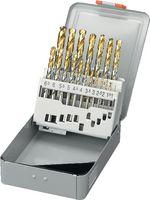 FUTURO Sortiment Spiralbohrer Typ N, HSS-Co5, TiN, in Metallkassette 1-10 / 0.5 - toolster.ch