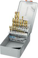 FUTURO Sortiment Spiralbohrer Typ N, HSS-Co5, TiN, in Metallkassette 1-10.5 / 0.5 + Kernlochbohrer - toolster.ch