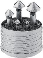 FUTURO Sortiment Dreilippensenker 5-teilig, 90 Grad, HSS, DIN 335 C 6.3 / 10.4 / 16.5 / 20.5 / 25.0 - toolster.ch