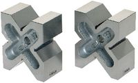 PREISSER Vierfach-Prismenpaar mit V-Auflage mit 4 verschieden grossen Einschnitten 60 x 100 x 120 / 4 x 90° - toolster.ch