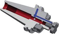 DIEBOLD Aufsteckfräsdorn DIN 69871A, mit Mitnehmersteinen SK 40  22 x 19 - toolster.ch