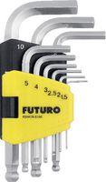 FUTURO Sechskant-Winkelstiftschlüsselsatz kurz 9-tlg kurz - toolster.ch