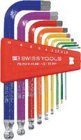 PB Swiss Tools Farbiger Sechskantstiftschlüssel-Satz PB 212 H-10 RB - toolster.ch