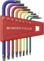 PB Swiss Tools Farbiger Winkelstiftschlüsselsatz für TORX®-Schrauben, 410 H 6-25 RB - toolster.ch