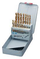 FUTURO Sortiment Spiralbohrer Typ N, HSS, TiN, in Metallkassette A TiN / 1-10 (Abstufung 0.5) - toolster.ch
