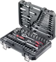 """JET Jeu de clés à douille six pans 1/4"""" + 1/2"""" / 82pièces / X-582C - toolster.ch"""