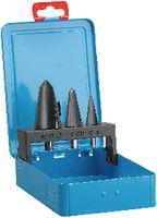 Sortiment KSB-Schälaufbohrer HSS in Metallkassette Gr.0: 3-14mm/1: 8-20mm/2:16-30.5mm - toolster.ch