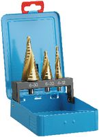 Sortiment Mehrstufenbohrer HSS, TiN, in Metallkassette L1-S, L2-S, L3-S TiN  (je 1 Stk.) - toolster.ch