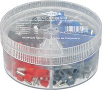 KNIPEX Aderendhülsen-Sortiment 0.75...2.5 mm2 / 200 Stk. assortiert - toolster.ch