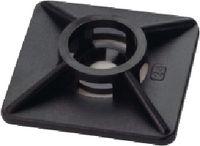 Klebesockel für Kabelbinder Packung zu 100 Stück 2-Weg Sockel - 27x27 mm, schwarz - toolster.ch