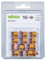 WAGO Verbindungsklemme  COMPACT 2 Leiter, 221-412, Blister à 16 Stück - toolster.ch