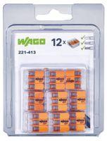 WAGO Verbindungsklemme  COMPACT 3 Leiter, 221-413, Blister à 12 Stück - toolster.ch