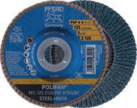 PFERD Fächerschleifscheibe  POLIFAN Ø 125, K 60 (PFC 125 Z60 PSF STEELOX) - toolster.ch