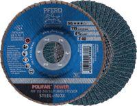 PFERD Fächerschleifscheibe  POLIFAN Ø 115, K 40 (PFF SG POWER STEELOX) - toolster.ch