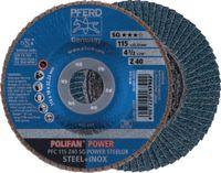 PFERD Fächerschleifscheibe  POLIFAN Ø 115, K 40 (PFC SG POWER STEELOX) - toolster.ch