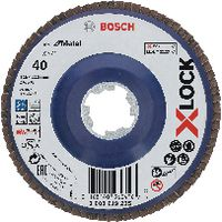 BOSCH Fächerschleifscheiben X-LOCK 125 / K120, gerade - toolster.ch