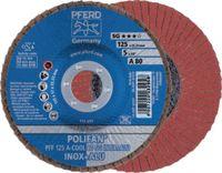 PFERD Fächerschleifscheibe  POLIFAN Ø 125, K 80 (PFF A-COOL SG INOX+ALU) - toolster.ch