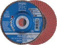 PFERD Fächerschleifscheibe  POLIFAN Ø 125, K 80 (PFC A-COOL SG INOX+ALU) - toolster.ch