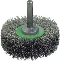 Schaft-Rundbürste rostfreier Stahldraht, gewellt 30x9x0.2 - toolster.ch