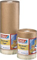 tesa® Abdeckpapier mit Abdeckband Easy Cover 4364 180 mm x 25 m / braun - toolster.ch
