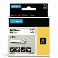 DYMO Schriftbandkassette 12mm x 5.5m 18444 / schwarz auf weiss - toolster.ch