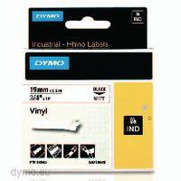 DYMO Schriftbandkassette 19mm x 5.5m 18445 / schwarz auf weiss - toolster.ch