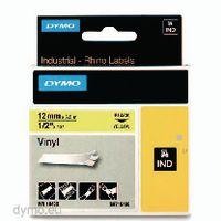 DYMO Schriftbandkassette 12mm x 5.5m 18432 / schwarz auf gelb - toolster.ch