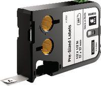 DYMO Etikettenkassette Polyester, , XTL schwarz / weiss 12 mm x 12 mm - toolster.ch