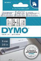 DYMO Schriftbandkassette  D1 9 mm x 7 m 40910 / schwarz auf transparent - toolster.ch