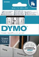 DYMO Schriftbandkassette  D1 12 mm x 7 m 45010 / schwarz auf transparent - toolster.ch