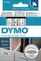 DYMO Schriftbandkassette  D1 12 mm x 7 m 45013 / schwarz auf weiss - toolster.ch