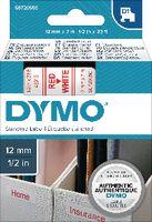 DYMO Schriftbandkassette  D1 12 mm x 7 m 45015 / rot auf weiss - toolster.ch