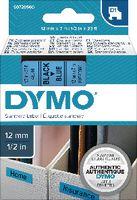 DYMO Schriftbandkassette  D1 12 mm x 7 m 45016 / schwarz auf blau - toolster.ch