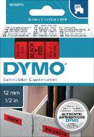 DYMO Schriftbandkassette  D1 12 mm x 7 m 45017 / schwarz auf rot - toolster.ch