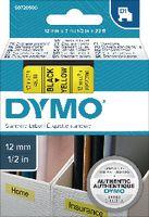 DYMO Schriftbandkassette  D1 12 mm x 7 m 45018 / schwarz auf gelb - toolster.ch