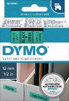 DYMO Schriftbandkassette  D1 12 mm x 7 m 45019 / schwarz auf grün - toolster.ch
