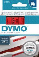 DYMO Schriftbandkassette  D1 19 mm x 7 m 45807 / schwarz auf rot - toolster.ch