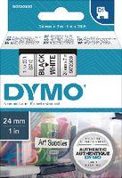 DYMO Schriftbandkassette  D1 24 mm x 7 m 53713 / schwarz auf weiss - toolster.ch